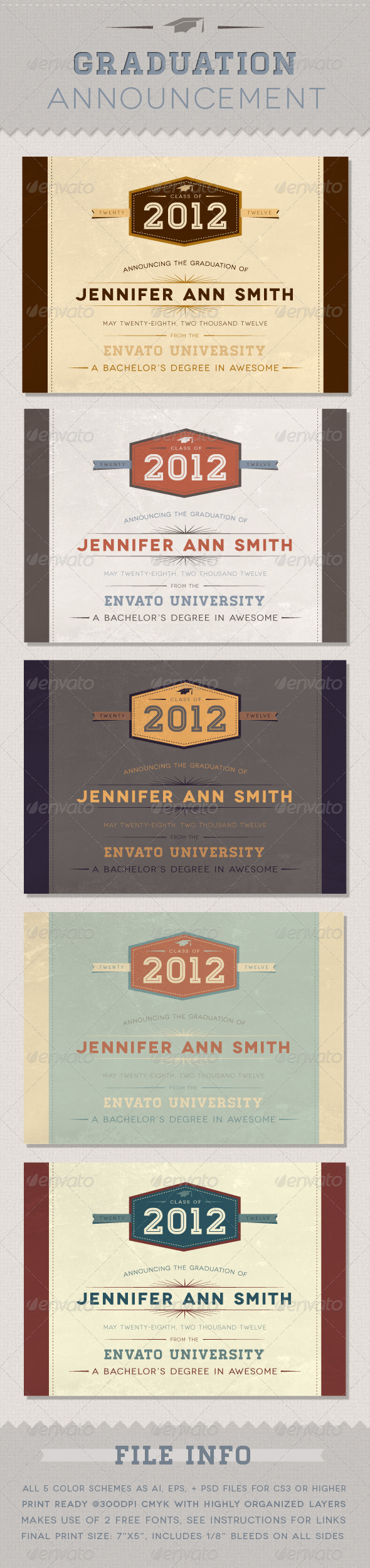 GraphicRiver Graduation Announcement 2080843
