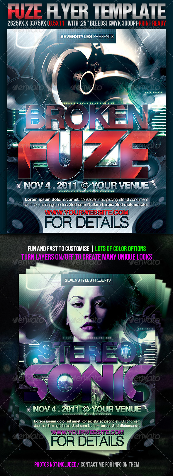 GraphicRiver Fuze Flyer Template 232759