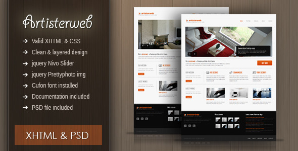 ThemeForest Artister XHTML portfolio agency clean theme Site Templates Creative Portfolio 2012835