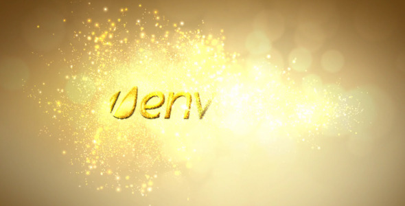 After Effects Project - VideoHive Golden Sparkle Logo Reveal 2083797