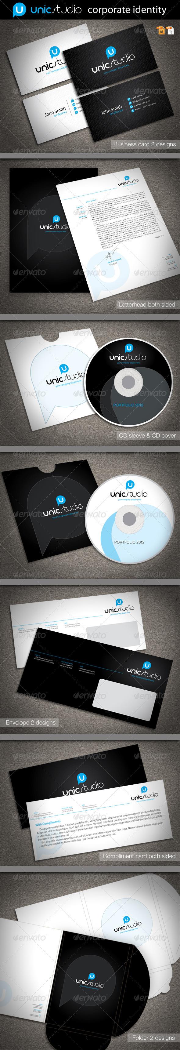 GraphicRiver Unic Studio Corporate Identity 2084281