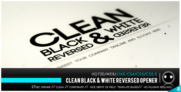 VideoHive Clean Black & White Reversed 2084394