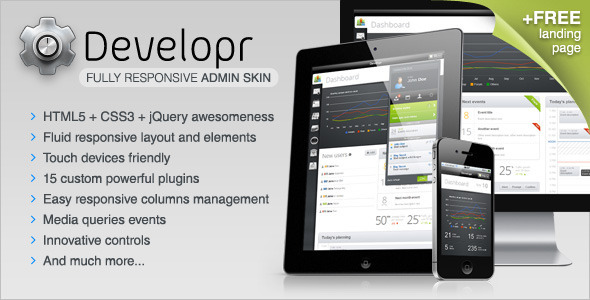 Site Templates – Developr – Fully Responsive Admin Skin | ThemeForest