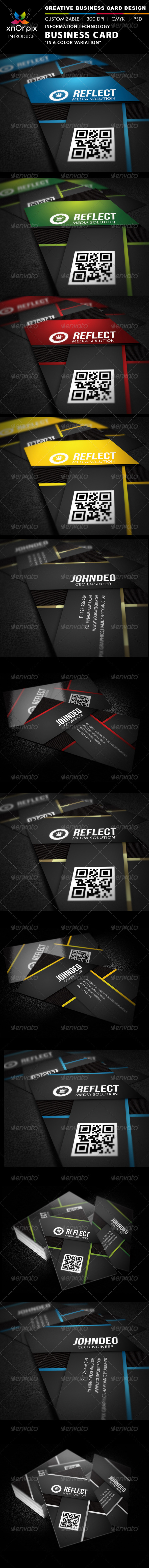 GraphicRiver Information Technology Business Card 2090280