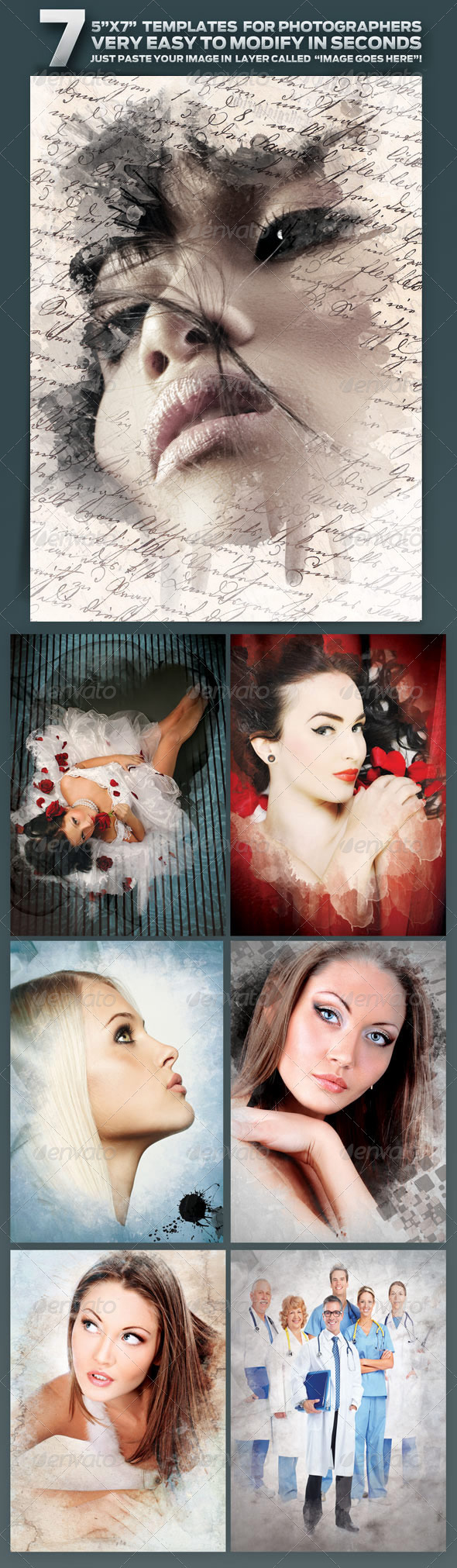 GraphicRiver 7 Seven 5 x7 Frame Templates for Photographers 1718728