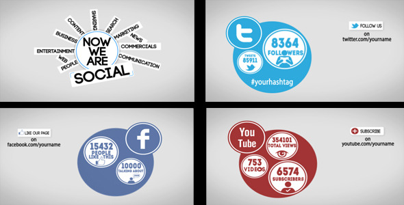 VideoHive Promote Yourself with Social Media Networks 2092399