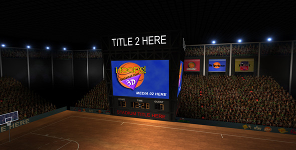 VideoHive Hoops 3D Basketball Court 2092566