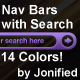 Jonified Rounded Nav Bars with Search - 14 Colors! - GraphicRiver Item for Sale