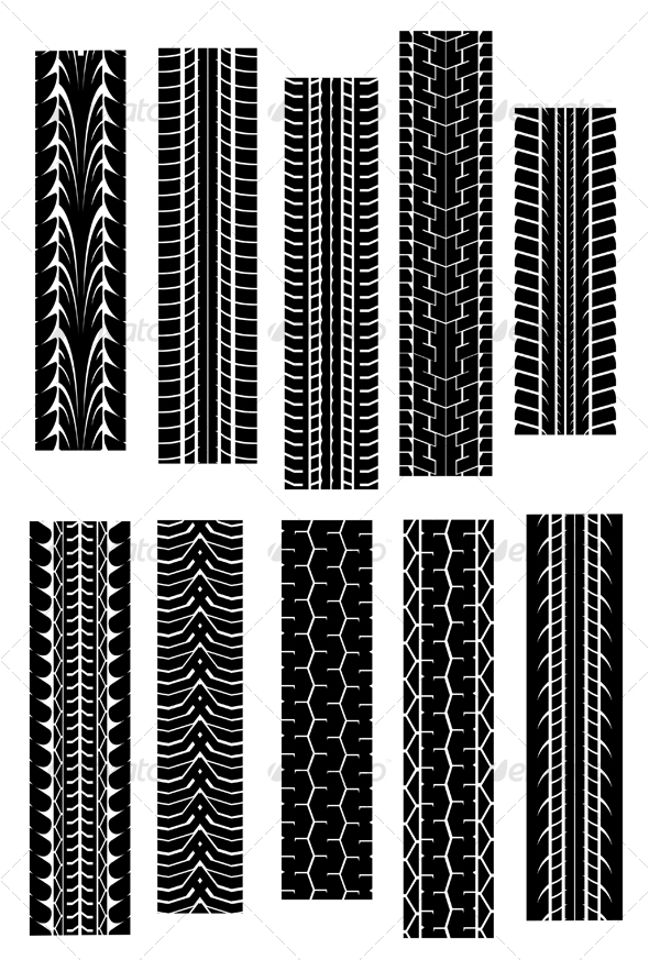 GraphicRiver Set of tire shapes 79587