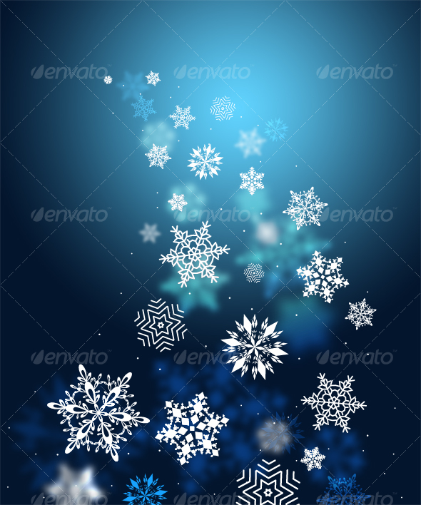 GraphicRiver Swirls of snow flakes leading 79691