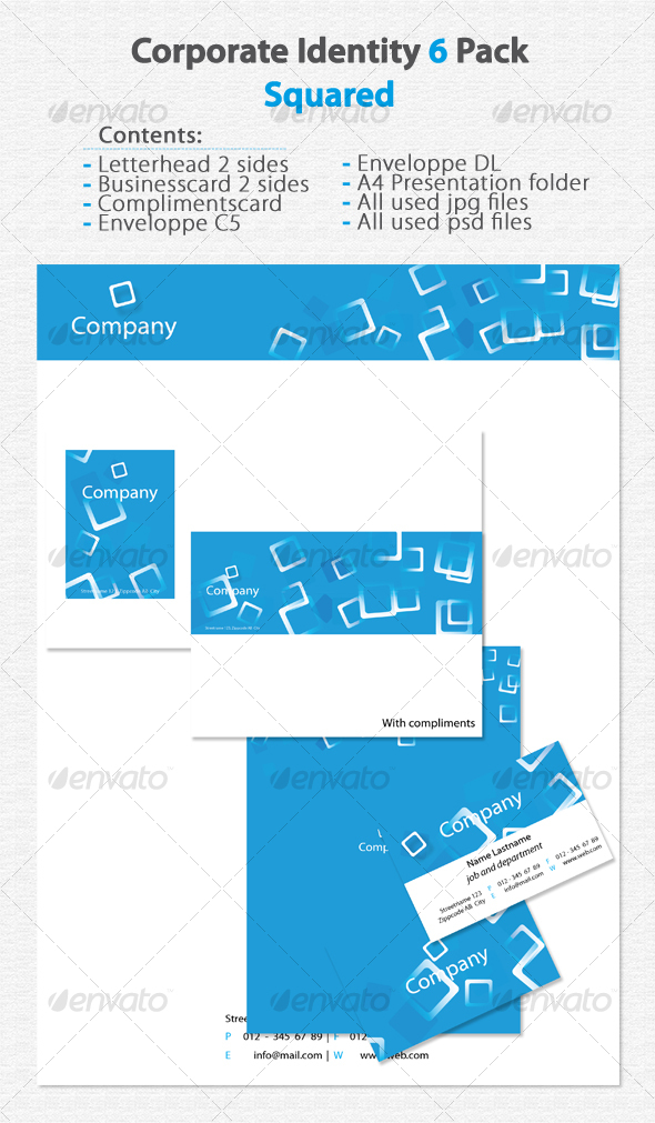 GraphicRiver Corporate Identity 6 Pack Squared 79832
