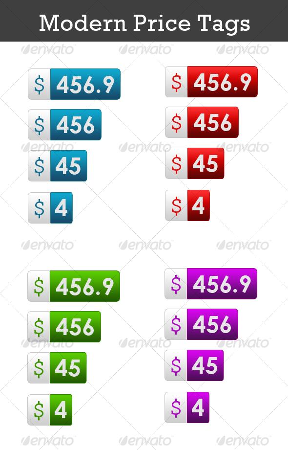 GraphicRiver Modern Price Tags 49432