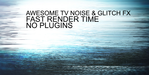VideoHive Glitch & noise media FX 2059300