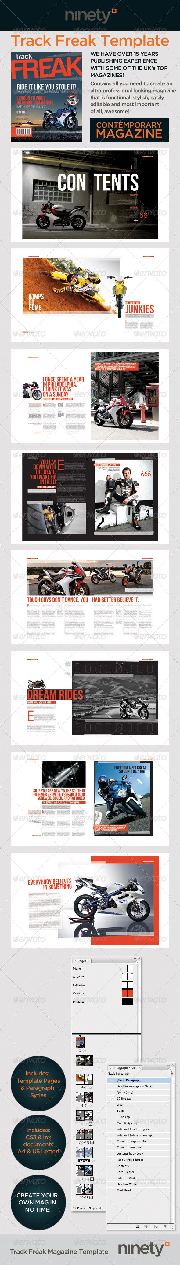 GraphicRiver Track Freak Magazine Template 237902