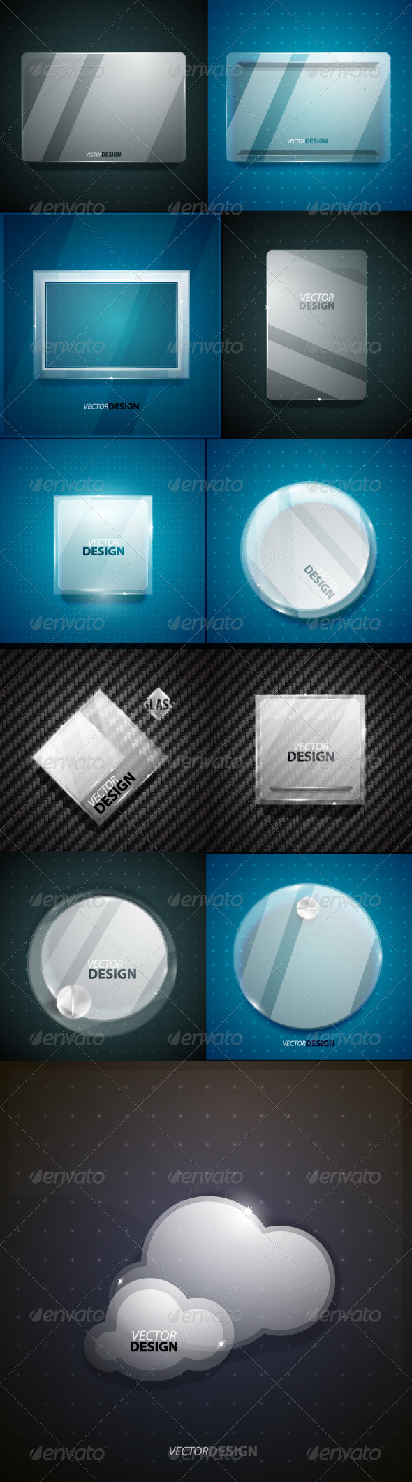GraphicRiver Collection of Glass Screens 2110804