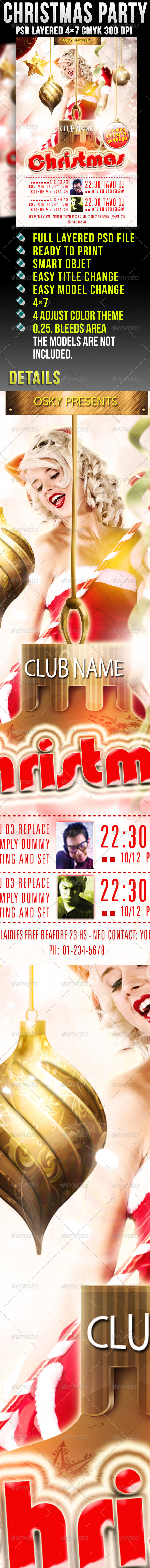Graphic River Christmas Party Print Templates -  Flyers  Events  Clubs & Parties 921536