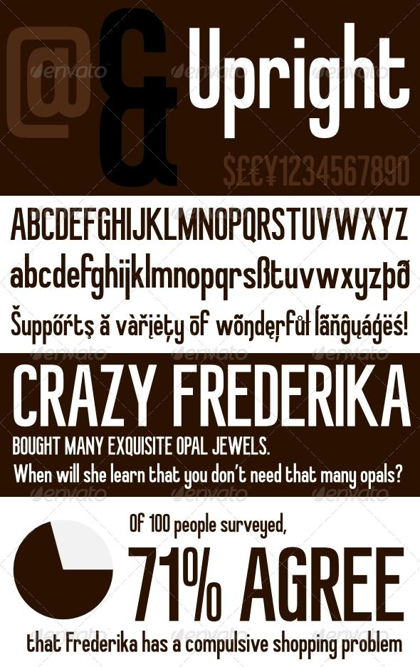 GraphicRiver Upright Retro Inspired Headline Font 239515