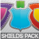 Glossy & Metallic Shields Pack 1 - GraphicRiver Item for Sale