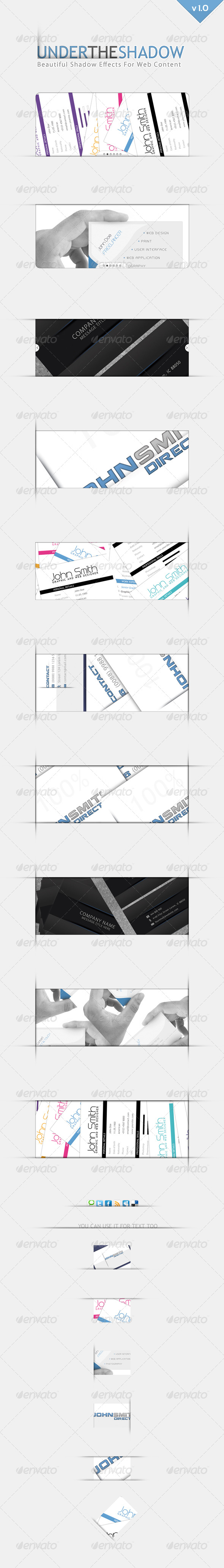GraphicRiver Under the Shadow Generator for Web Content 240086