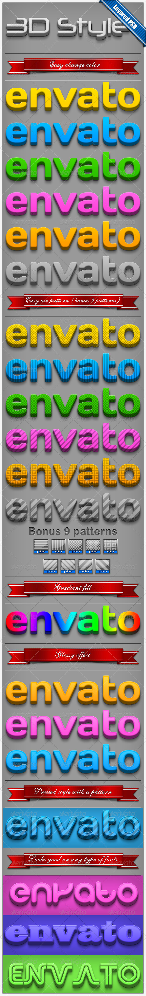 GraphicRiver 3D Text Style 240168