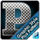 Hole Punched Metal Graphic Style plus bonus patter - GraphicRiver Item for Sale