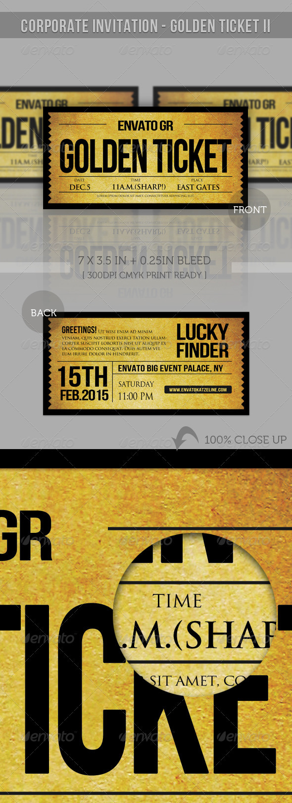 GraphicRiver Corporate Invitation Golden Ticket II 2081066