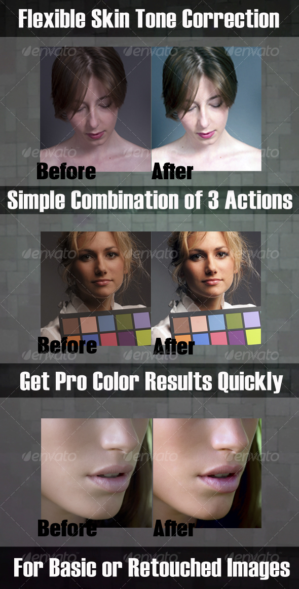 GraphicRiver Skin Color Correction & Enhacement Actions #1 80218