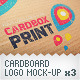 Cardboard Logo Mockup Pack With Custom Backgrounds - GraphicRiver Item for Sale