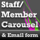 Staff/Member Carousel & Email Form - ActiveDen Item for Sale