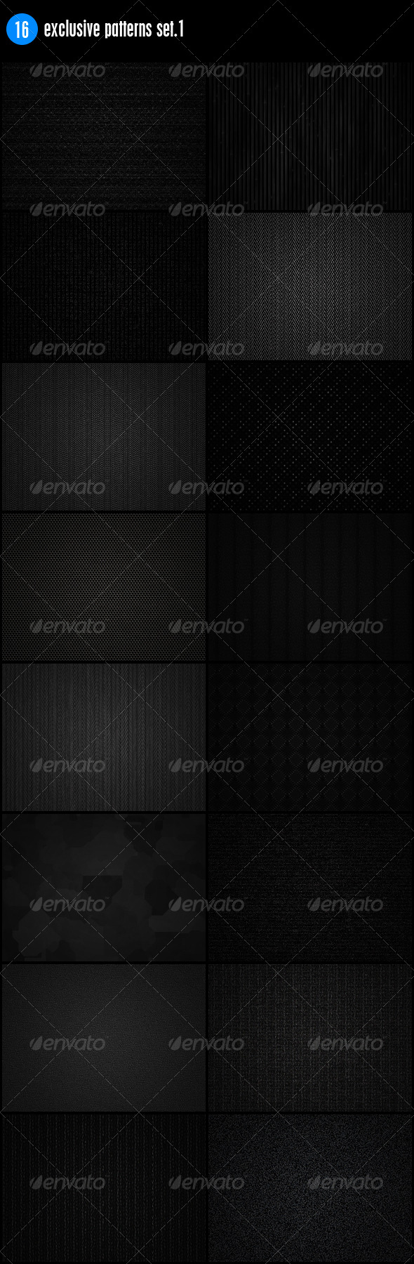 GraphicRiver 16 Exclusive Patterns Set.2 241083