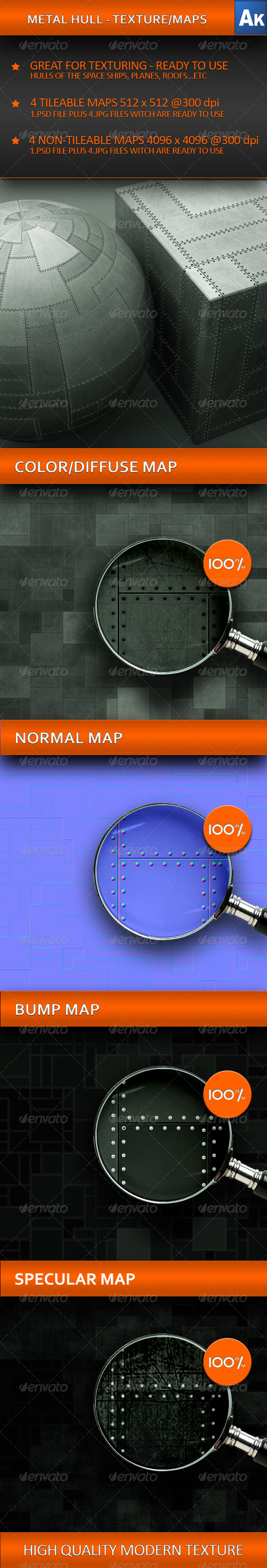 3DOcean METAL HULL TEXTURE MAPS 241172