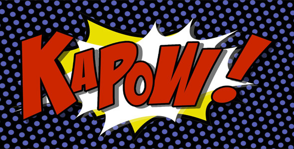 VideoHive Comic Book Hit Graphics With Alpha Channel 2085128