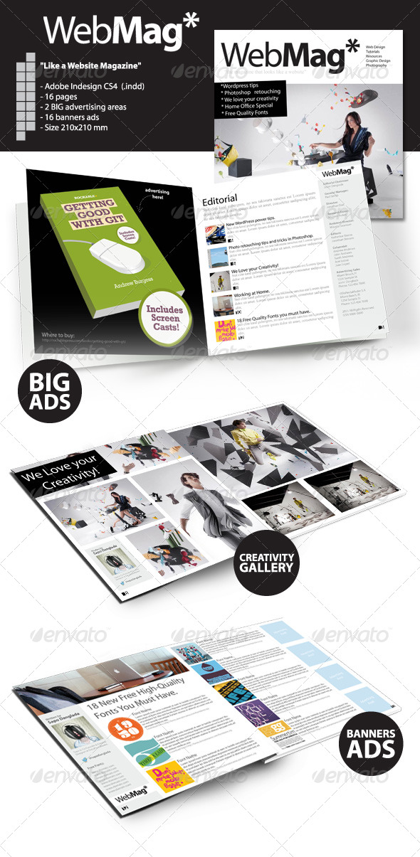 GraphicRiver WebMag InDesign Magazine Template 241375