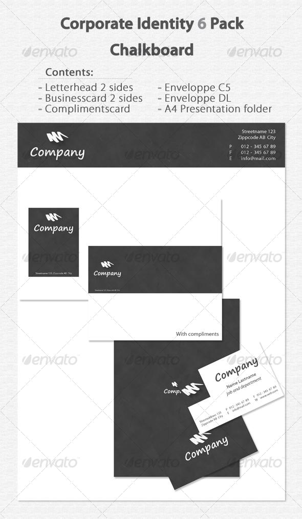 GraphicRiver Corporate Identity 6 Pack Chalkboard 80434