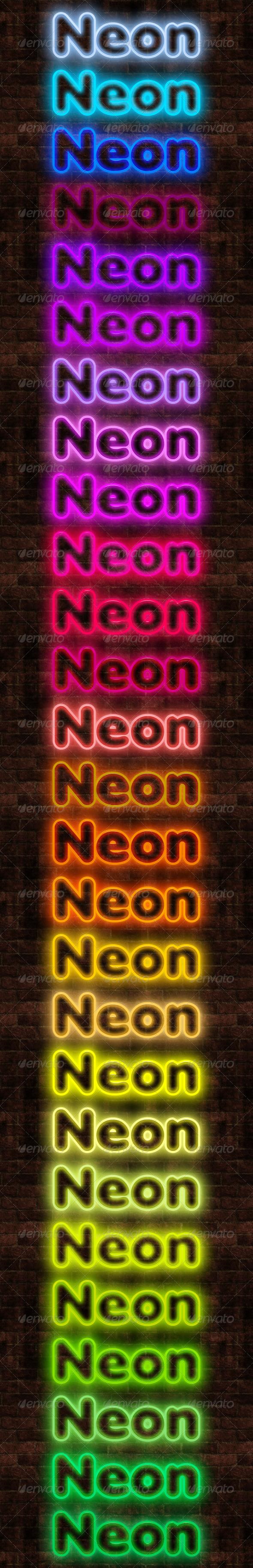 GraphicRiver 27 Neon Styles 241858