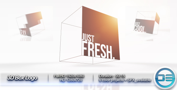 After Effects Project - VideoHive 3D Box Logo 241884
