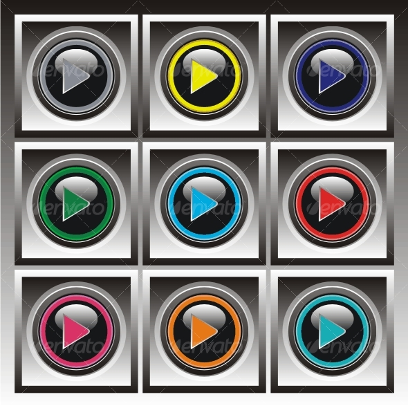 GraphicRiver Set of vector elements Color buttons 80534