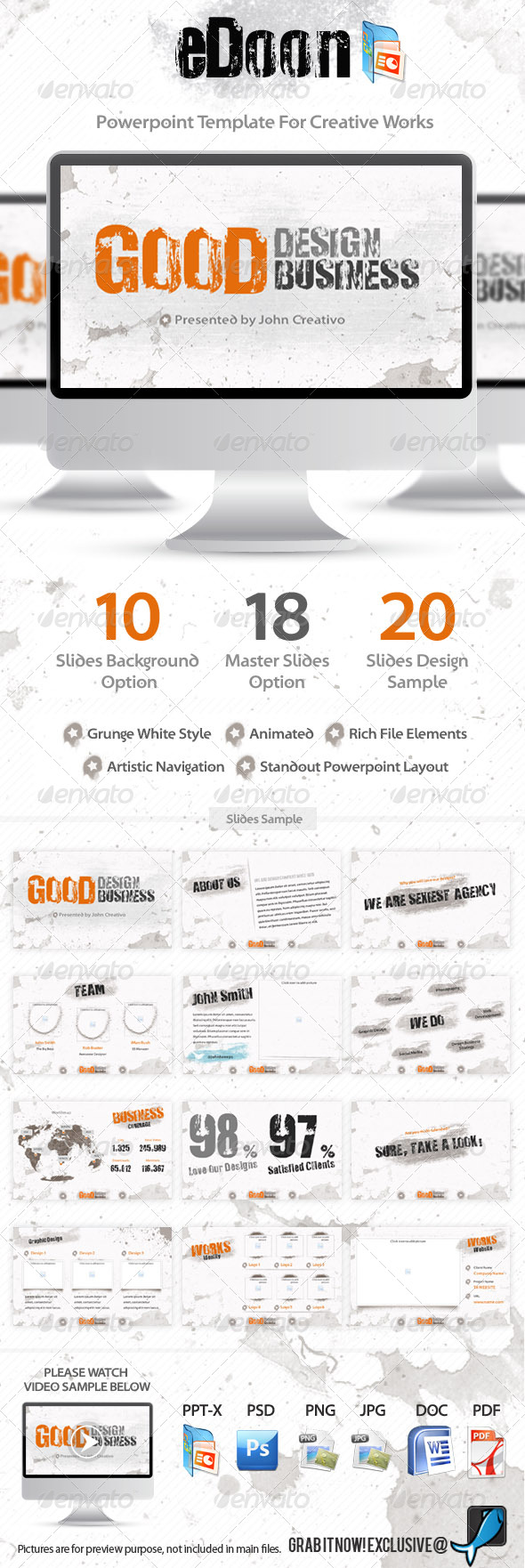 GraphicRiver eDoon Powerpoint Template For Creative Works 241895