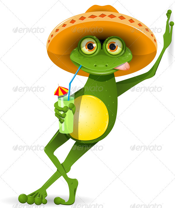 Graphic River Frog in a Hat Vectors -  Characters  Animals 2135737