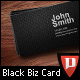 Black Business Card Template - GraphicRiver Item for Sale