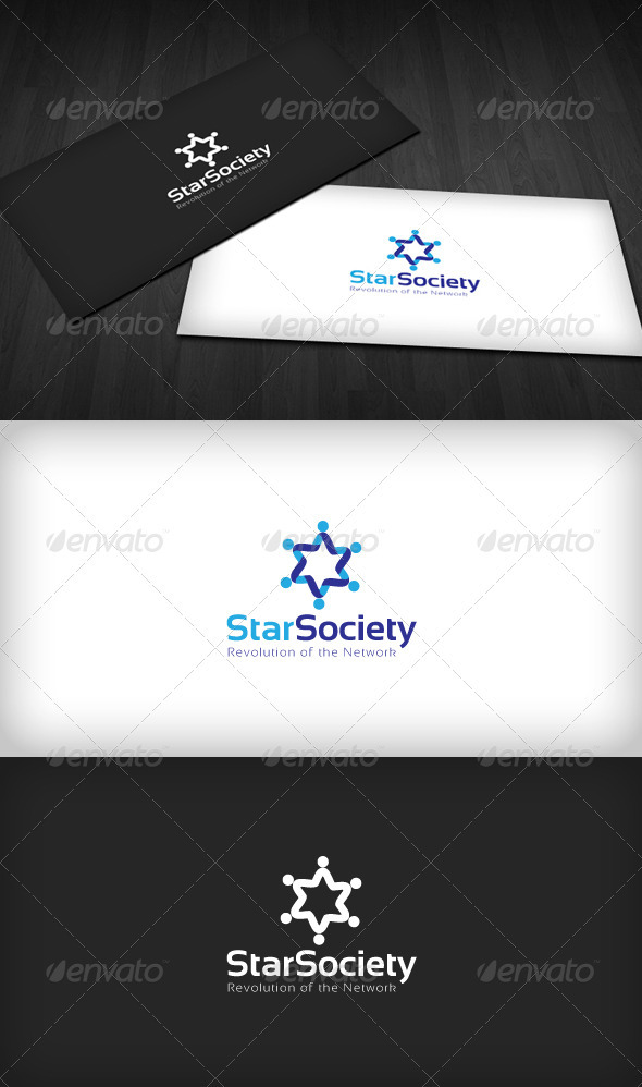Graphic River Star Society Logo Logo Templates -  Humans 2136455