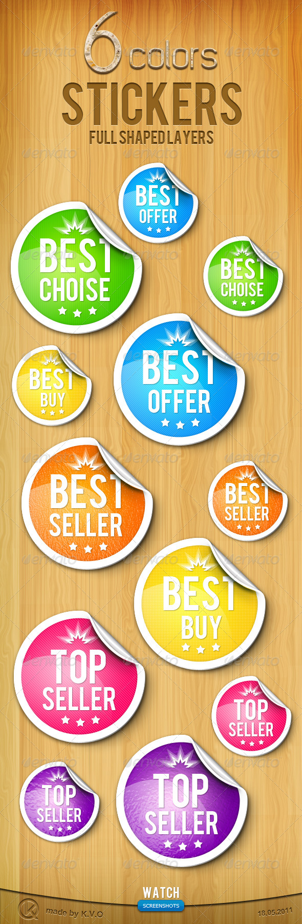 GraphicRiver Sheet Rubber Stickers 242235