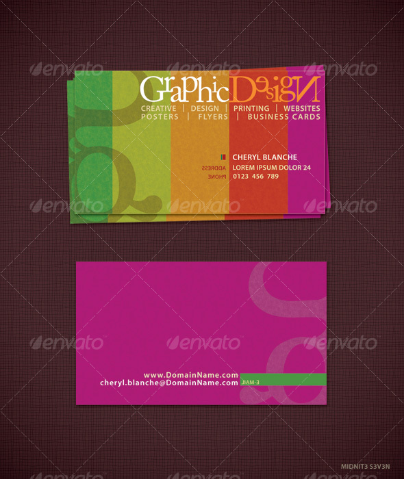 GraphicRiver Colorfull Business Card #1 80252