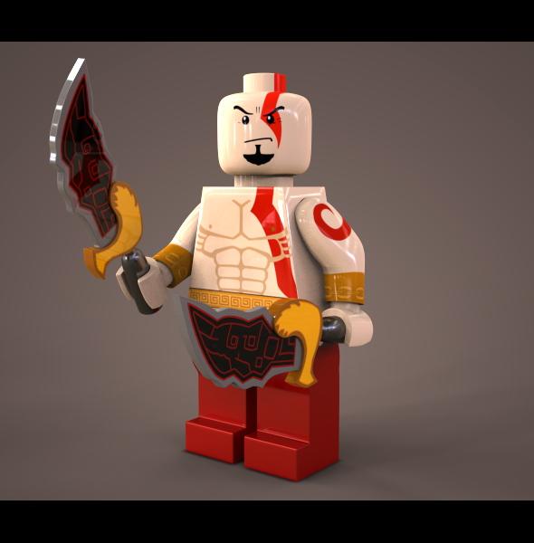 3DOcean Lego Kratos 80587