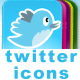 TWITTER ICONS (16 web 2.0 colors) - GraphicRiver Item for Sale