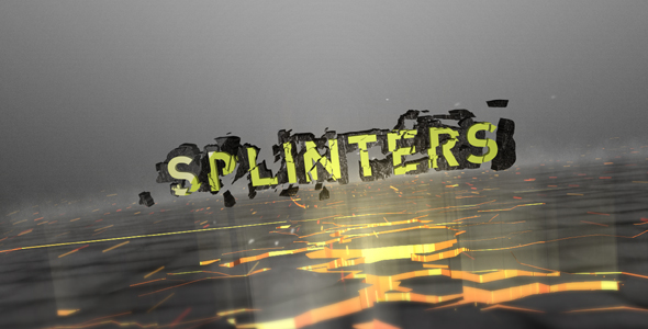 After Effects Project - VideoHive Splinters 242389