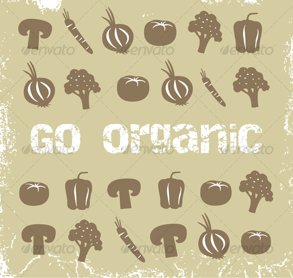 Graphic River Collection of organic vegetables Graphics -  Illustrations  Objects 80669
