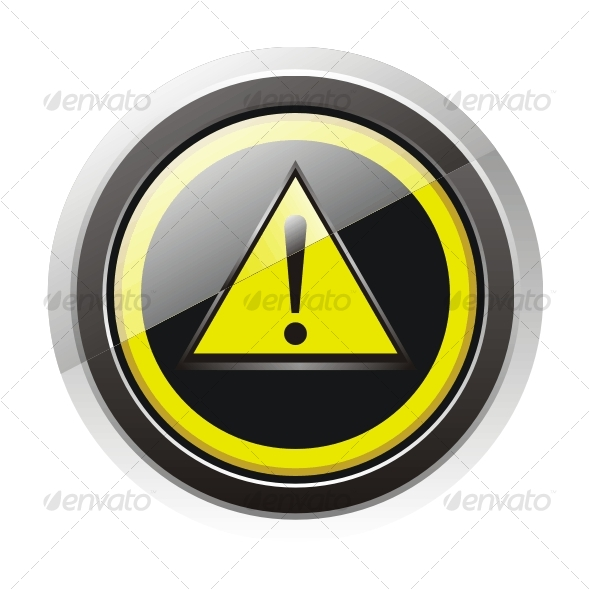 GraphicRiver Glossy warning sign icon 80689