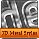 3D Pressed Metallic Text Styles - GraphicRiver Item for Sale