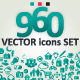 960 Vector Icons Set - GraphicRiver Item for Sale